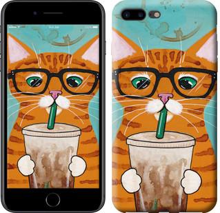 """Чехол на iPhone 7 Plus Зеленоглазый кот в очках """"4054c-337-15886"""""""