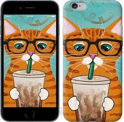 """Чехол на iPhone 6 Plus Зеленоглазый кот в очках """"4054c-48-15886"""""""