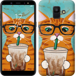 "Чохол на Samsung Galaxy A6 2018 Зеленоокий кіт в окулярах ""4054u-1480-15886"""