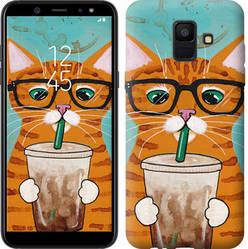 """Чехол на Samsung Galaxy A6 2018 Зеленоглазый кот в очках """"4054u-1480-15886"""""""