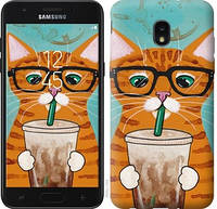 """Чехол на Samsung Galaxy J7 2018 Зеленоглазый кот в очках """"4054u-1502-15886"""""""