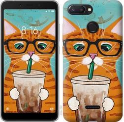 """Чехол на Xiaomi Redmi 6 Зеленоглазый кот в очках """"4054u-1521-15886"""""""