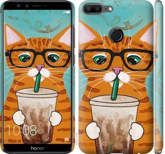 """Чехол на Huawei Honor 9 Lite Зеленоглазый кот в очках """"4054c-1359-15886"""""""