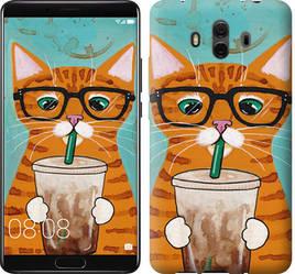 """Чехол на Huawei Mate 10 Зеленоглазый кот в очках """"4054u-1116-15886"""""""