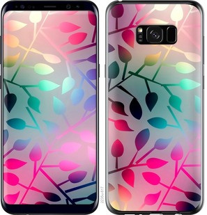 "Чехол на Samsung Galaxy S8 Plus Листья ""2235c-817-15886"""