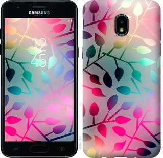 "Чехол на Samsung Galaxy J3 2018 Листья ""2235u-1501-15886"""