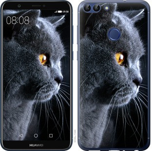 "Чехол на Huawei P Smart Красивый кот ""3038c-1346-15886"""