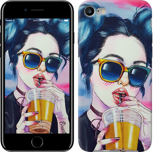 "Чехол на iPhone 8 Арт-девушка в очках ""3994c-1031-15886"""