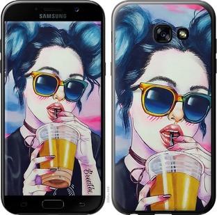 """Чехол на Samsung Galaxy A5 (2017) Арт-девушка в очках """"3994c-444-15886"""""""