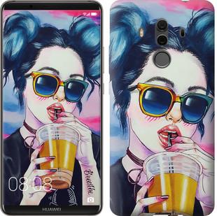 """Чохол на Huawei Mate 10 Pro Арт-дівчина в окулярах """"3994u-1138-15886"""""""