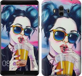 """Чехол на Huawei Mate 10 Арт-девушка в очках """"3994u-1116-15886"""""""