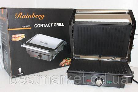 Контактный гриль Rainberg RB-5402 мощностью 1500 Вт