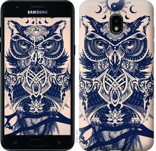 "Чехол на Samsung Galaxy J3 2018 Узорчатая сова ""4000u-1501-15886"""