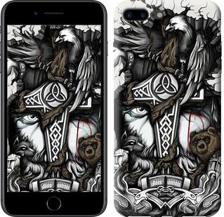 "Чехол на iPhone 7 Plus Тату Викинг ""4098c-337-15886"""