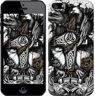 "Чехол на iPhone SE Тату Викинг ""4098c-214-15886"""