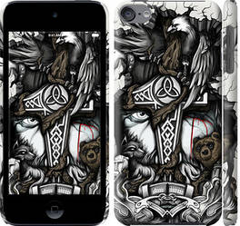 """Чехол на iPod Touch 6 Тату Викинг """"4098c-387-15886"""""""