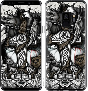 "Чехол на Samsung Galaxy S9 Тату Викинг ""4098c-1355-15886"""