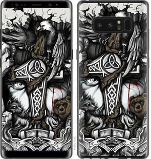 "Чехол на Samsung Galaxy Note 8 Тату Викинг ""4098c-1020-15886"""