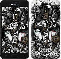 """Чехол на Samsung Galaxy J7 2018 Тату Викинг """"4098u-1502-15886"""""""