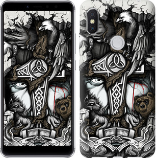 "Чехол на Xiaomi Redmi S2 Тату Викинг ""4098u-1494-15886"""
