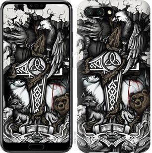 "Чехол на Huawei Honor 10 Тату Викинг ""4098u-1496-15886"""
