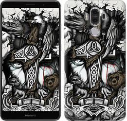 "Чехол на Huawei Mate 9 Тату Викинг ""4098u-425-15886"""