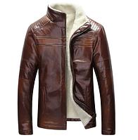 Мужская кожаная куртка. Модель 18136, фото 2