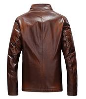 Мужская кожаная куртка. Модель 18136, фото 3