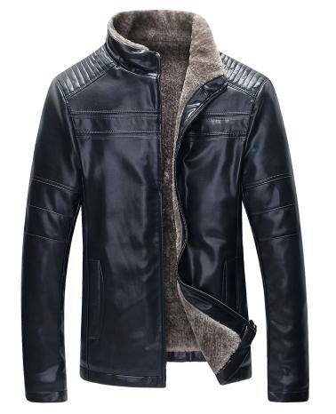 Мужская кожаная куртка. Модель 18136
