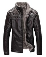 Мужская кожаная куртка. Модель 18136, фото 4