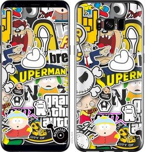 "Чехол на Samsung Galaxy S8 Popular logos ""4023c-829-15886"""