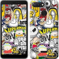 "Чехол на Xiaomi Redmi 6 Popular logos ""4023u-1521-15886"""
