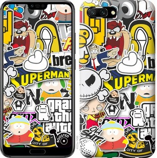 "Чехол на Huawei Honor 10 Popular logos ""4023u-1496-15886"""