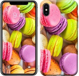 """Чехол на iPhone X Макаруны """"2995c-1050-15886"""""""