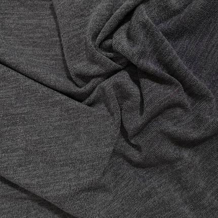 Трикотаж ангора арктика меланжевая темно-серая, фото 2