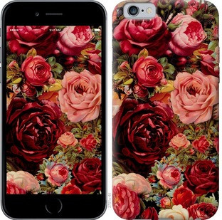 "Чехол на iPhone 6s Цветущие розы ""2701c-90-15886"""