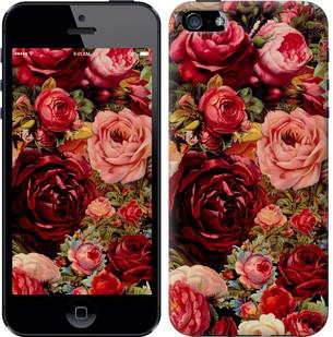 """Чехол на iPhone SE Цветущие розы """"2701c-214-15886"""""""