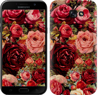 """Чехол на Samsung Galaxy A7 (2017) Цветущие розы """"2701c-445-15886"""""""