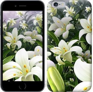"""Чехол на iPhone 6s Белые лилии """"2686c-90-15886"""""""
