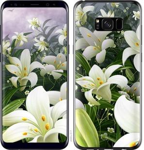 "Чехол на Samsung Galaxy S8 Plus Белые лилии ""2686c-817-15886"""