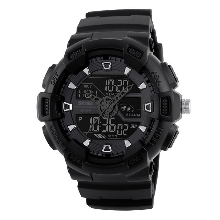 Skmei 1189Черные  мужские спортивные  часы
