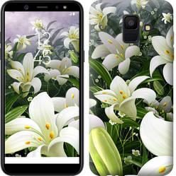 "Чехол на Samsung Galaxy A6 2018 Белые лилии ""2686u-1480-15886"""