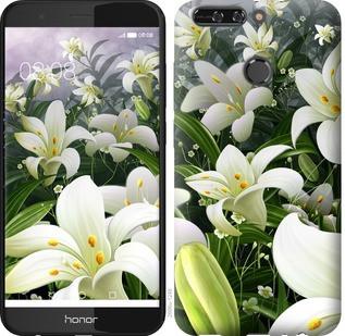 """Чехол на Huawei Honor V9 / Honor 8 Pro Белые лилии """"2686u-1246-15886"""""""