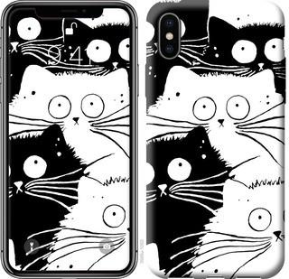 "Чехол на iPhone X Коты v2 ""3565c-1050-15886"""