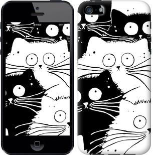 "Чехол на iPhone SE Коты v2 ""3565c-214-15886"""