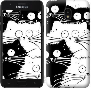 "Чехол на Samsung Galaxy J7 2018 Коты v2 ""3565u-1502-15886"""