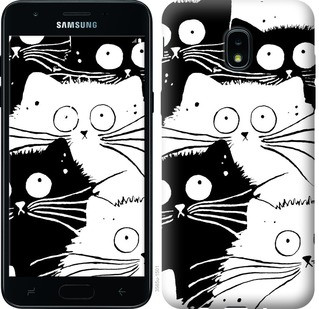 "Чехол на Samsung Galaxy J3 2018 Коты v2 ""3565u-1501-15886"""