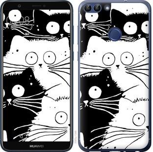 "Чехол на Huawei P Smart Коты v2 ""3565c-1346-15886"""