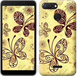 """Чехол на Xiaomi Redmi 6 Красивые бабочки """"4170u-1521-15886"""""""