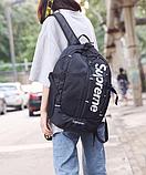 Рюкзак копия Supreme черный, фото 3